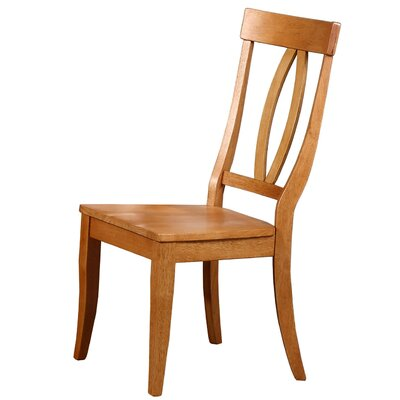 Garden Grove Solid Wood Dining Chair (Set of 2) Finish: Autumn