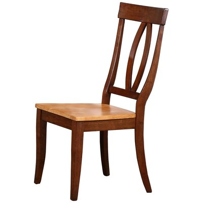 Garden Grove Solid Wood Dining Chair (Set of 2) Color: Fruitwood