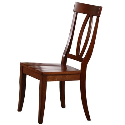 Garden Grove Solid Wood Dining Chair (Set of 2) Color: Chestnut
