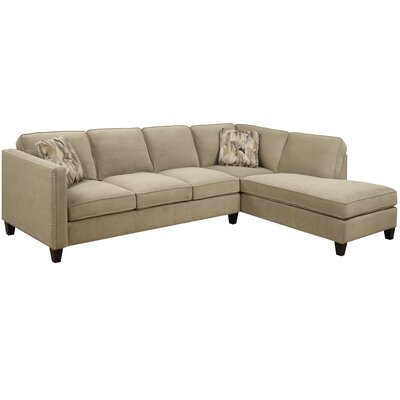 Baugh Chaise Sectional Upholstery: Granite