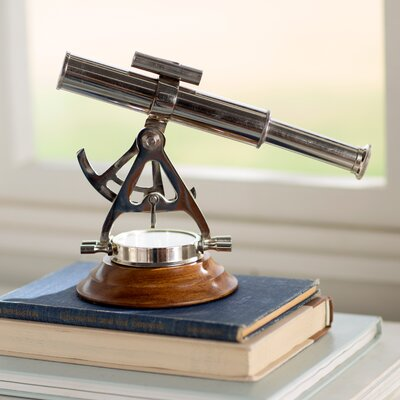 Decorative Telescope Compass Sculpture
