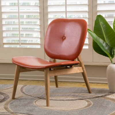 Mathers Faux Leather Side Chair Upholstery: Burnt Orange