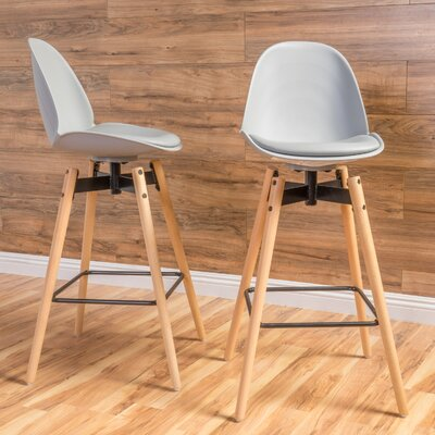 Chloris 30 Bar Stool Seat Color: Gray