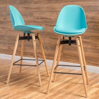 Chloris 30 Bar Stool Seat Color: Light Blue