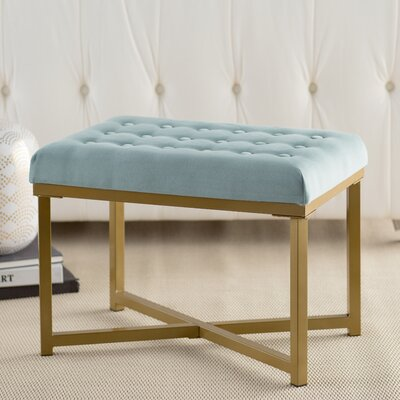 Firth Rectangular Ottoman Upholstery Color: Caribbean
