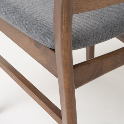 Rodney Side Chair Upholstery: Dark Gray, Finish: Natural Walnut