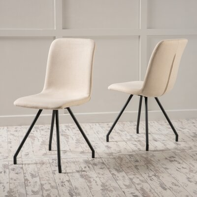 Cole Side Chair Upholstery: Beige