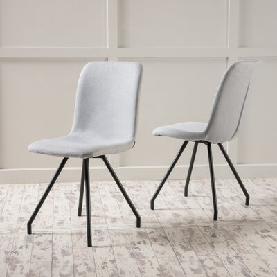 Cole Side Chair Upholstery: Light Gray
