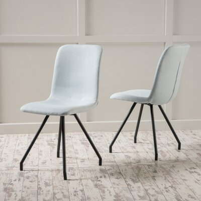 Cole Side Chair Upholstery: Light Sky