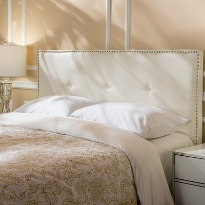 Samuel Full Upholstered Panel Headboard Upholstery: Ivory