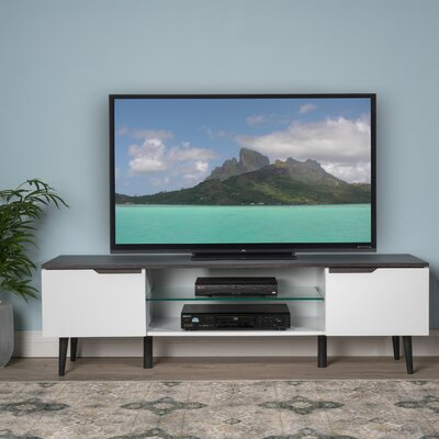Elton 59 TV Stand Color: White Matte / Gray