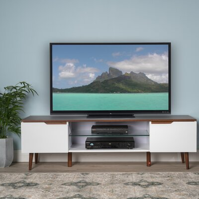 Elton 59 TV Stand Color: White Matte / Walnut