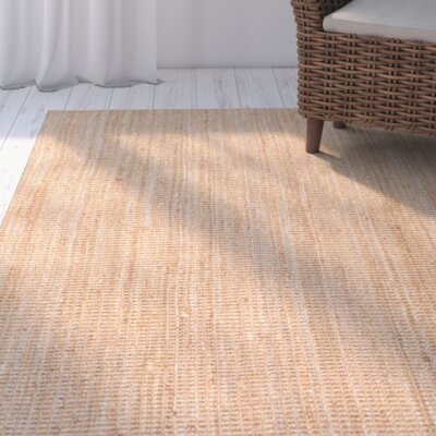 Montclair Hand-Woven Tan Area Rug Rug Size: 5 x 8