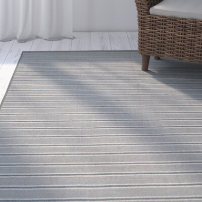 Palm Shores Hand-Woven Gray Area Rug Rug Size: Rectangle 9 x 12