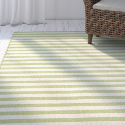 Harbeson Green Indoor/Outdoor Area Rug Rug Size: Runner 2'3