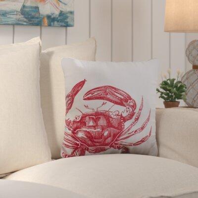 Bayhead Charming Crab Outdoor Throw Pillow