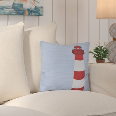 Bridgeport Light House Geometric Print Throw Pillow Size: 26 H x 26 W