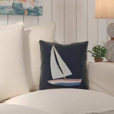 Golden Gate Set Sail Throw Pillow Size: 26 H x 26 W x 3 D