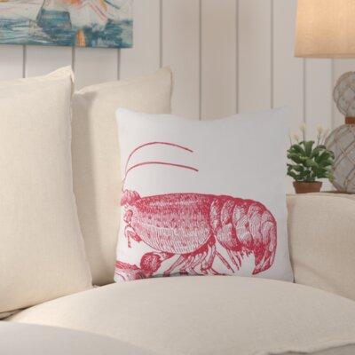Matunuck Lobster Outdoor Throw Pillow Size: 18 H x 18 W x 4 D