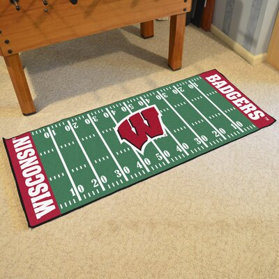 NCAA University of Wisconsin Football Field Runner
