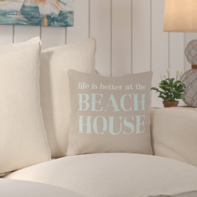 Shearman Life is Better At the Beach House Throw Pillow