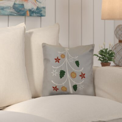 Decorative Holiday Geometric Print Outdoor Throw Pillow Size: 18 H x 18 W