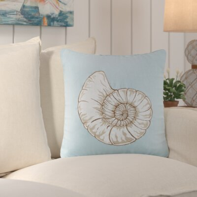 Chapin Seashell Embroidered Linen Throw Pillow