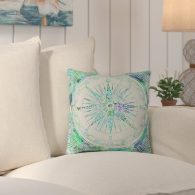 Ivydale Follow Your Own Path Mint Outdoor Throw Pillow Size: 18 H x 18 W x 5 D