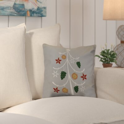 Decorative Holiday Geometric Print Throw Pillow Size: 18 H x 18 W