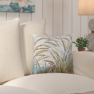 Rocio Ocean Breeze Floral Print Throw Pillow Size: 18 H x 18 W
