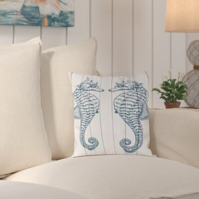 Stabler Double Seahorse Wood Outdoor Throw Pillow Size: 20 H x 20 W x 2 D