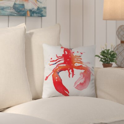 Penarth Lobster Outdoor Throw Pillow Size: 16 H x 16 W x 4 D