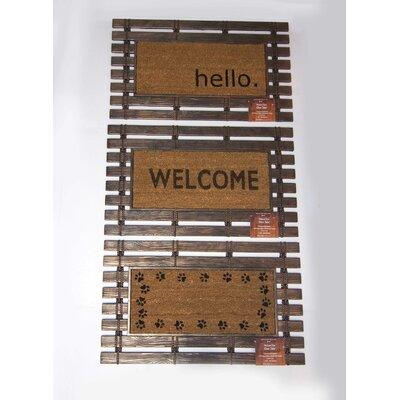 Montpelier Coir Brushed Paw Prints Welcome Door Mat