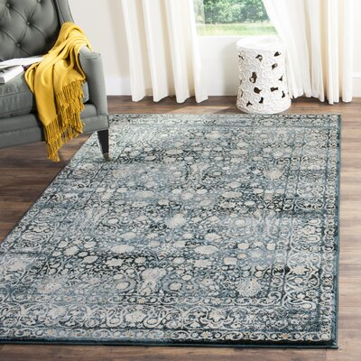 Bristol Point Blue/Ivory Area Rug Rug Size: Rectangle 36 x 56