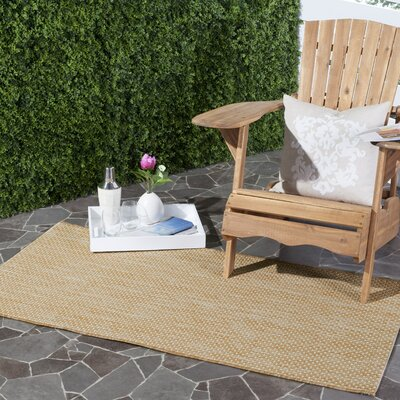 Mullen Solid Natural/Cream Indoor/Outdoor Area Rug Rug Size: Runner 23 x 12