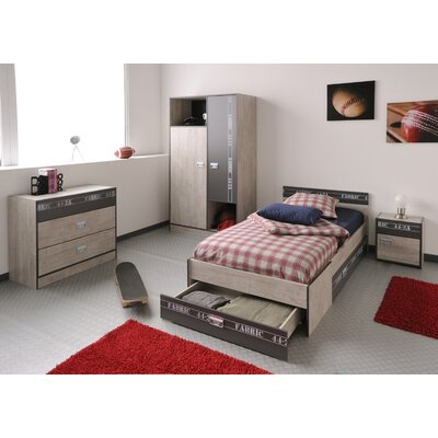 Joyce Twin Panel Bed with Drawer