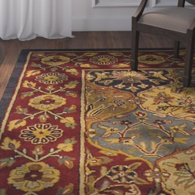 Dockett Hand-Tufted Red/Gold Area Rug