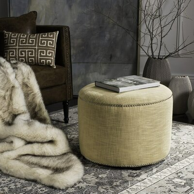 Bladon Fabric Ottoman Color: Gold