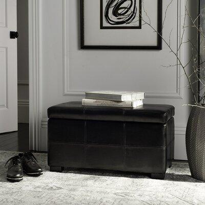 Lucas Leather Bedroom Storage Bedroom Bench Color: Black