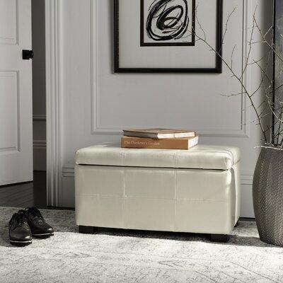 Lucas Leather Bedroom Storage Bedroom Bench Color: Cream