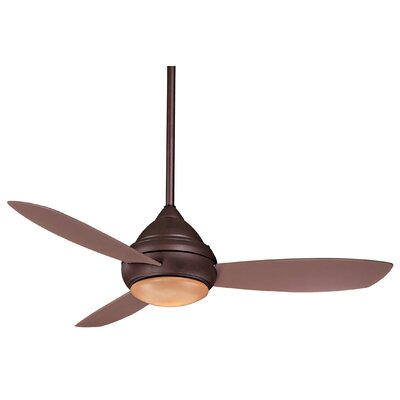 52 Concept� I Wet LED 3 Blade Outdoor Ceiling Fan Finish: Oil Rubbed Bronze