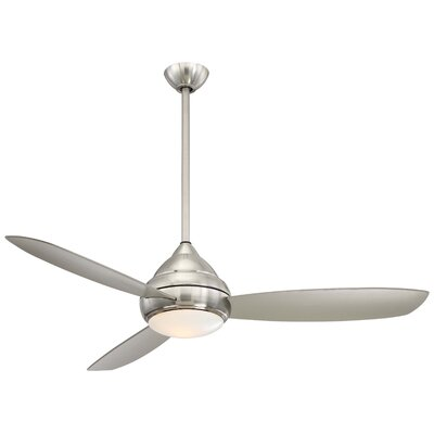 58 Concept� I Wet LED 3 Blade Outdoor Ceiling Fan Finish: Brushed Nickel