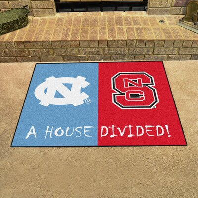 NCAA House Divided: North Carolina - North Carolina State House Divided Mat