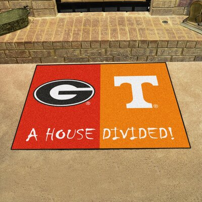 NCAA House Divided: Georgia / Tennessee House Divided Mat