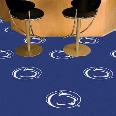 Collegiate 18 x 18 Carpet Tiles in Multi-Colored NCAA Team: Penn State