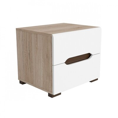 Elpasso 2 Drawer Nightstand Finish: Brown / White
