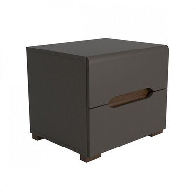 Elpasso 2 Drawer Nightstand Finish: Gray