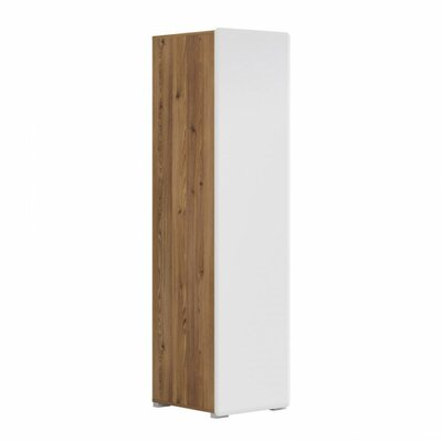Possi 1 Door Armoire Finish: Brown