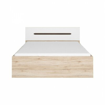 Elpasso Queen Platform Bed Color: Light Brown / White