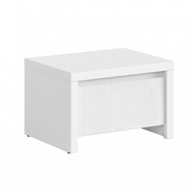 Kaspian 1 Drawer Nightstand Color: White